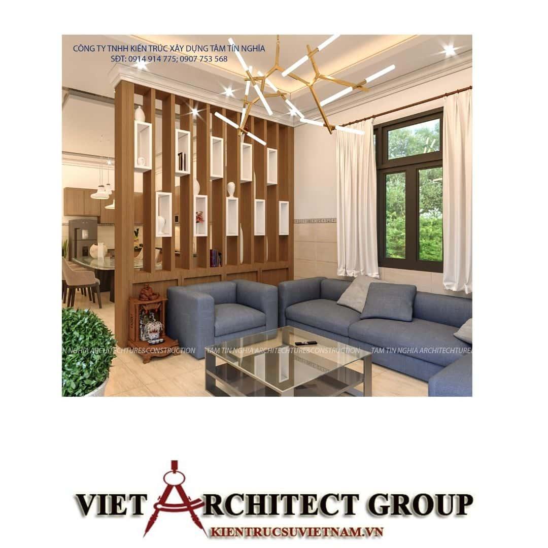 4 9 - Công trình biệt thự 1 tầng mái thái diện tích 200m2 chị Mỹ Trinh Thới Lai – Cần Thơ.