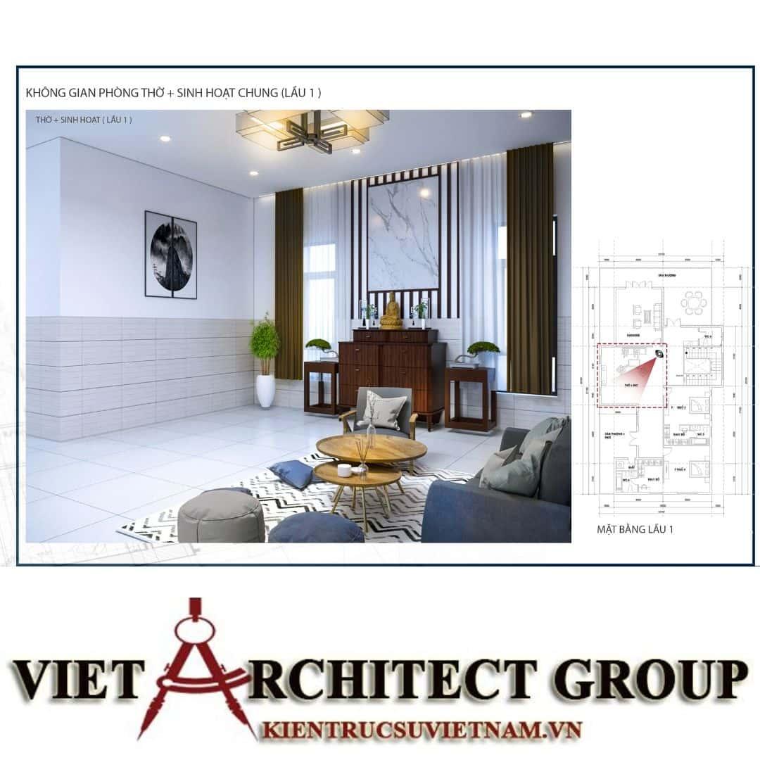 5 10 - Công trình biệt thự 1 trệt 1 lầu diện tích 15x40 chị Oanh, Vũng Tàu