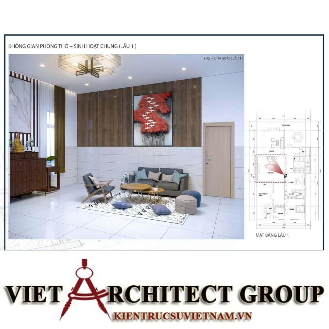 6 10 - Công trình biệt thự 1 trệt 1 lầu diện tích 15x40 chị Oanh, Vũng Tàu