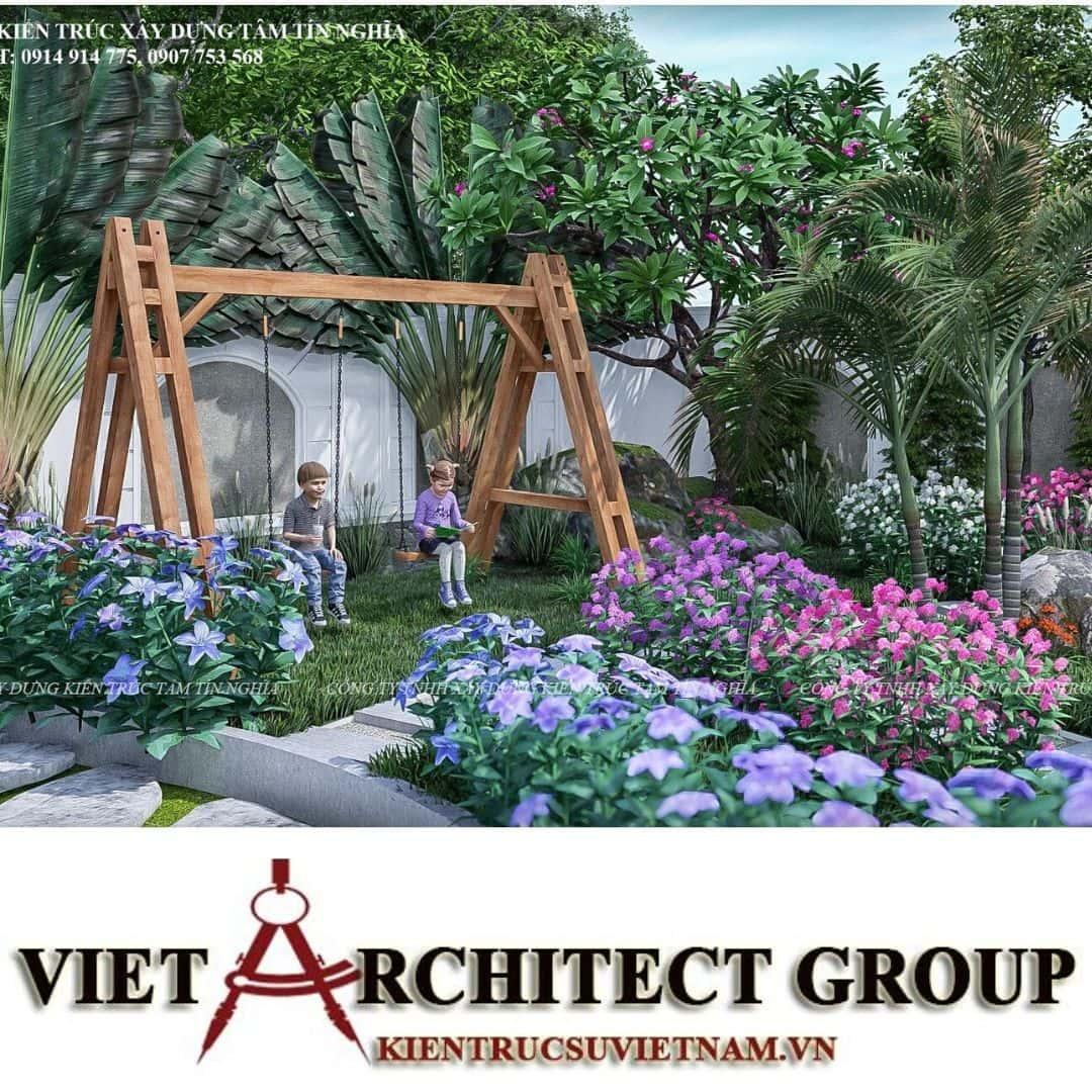 9 3 - Công trình biệt thự vườn 1 trệt 1 lầu phong cách tân cổ điển Anh Quốc - Cần Thơ
