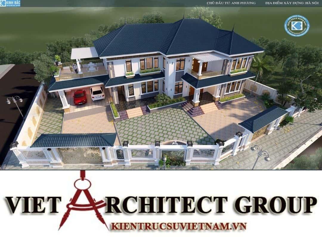 9 - Công trình biệt thự 2 tầng mái thái sang trọng đẳng cấp của gia đình anh Phương - Hà Nội