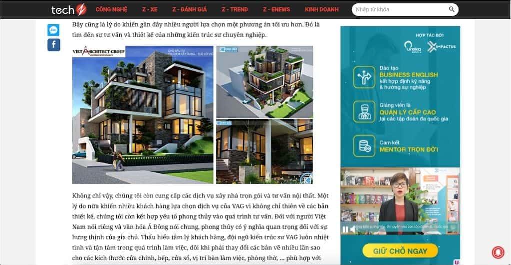 1 2 - Báo Công nghệ Techz.vn: Công ty thiết kế nhà đẹp uy tín