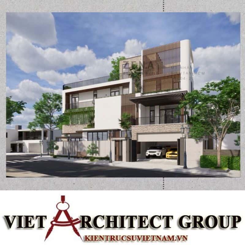 1 3 - Công trình thiết kế và thi công nhà lô góc phố 2 mặt tiền Mr Nhân - Tân Phú