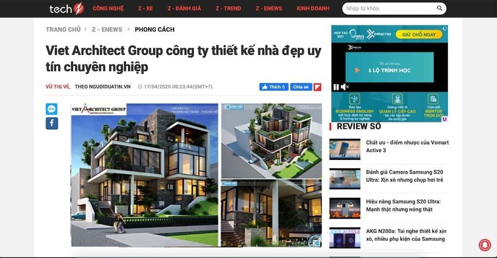 2 1 - Báo Công nghệ Techz.vn: Công ty thiết kế nhà đẹp uy tín