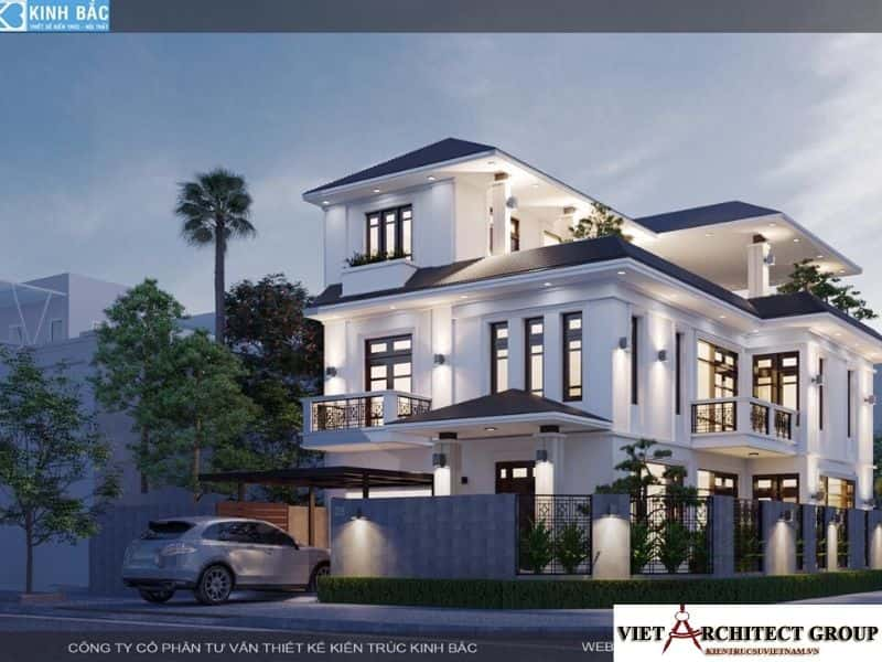 2 - Công trình biệt thự lô góc phố 2 mặt tiền Mr Lâm - Mỹ Hào, Hưng Yên