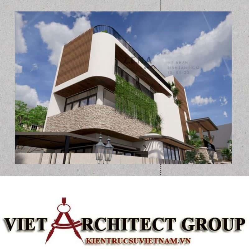 3 1 - Công trình thiết kế và thi công nhà lô góc phố 2 mặt tiền Mr Nhân - Tân Phú