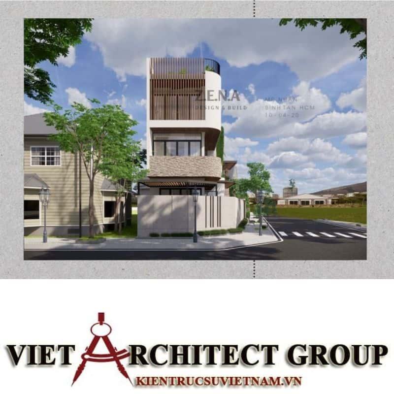 4 1 - Công trình thiết kế và thi công nhà lô góc phố 2 mặt tiền Mr Nhân - Tân Phú