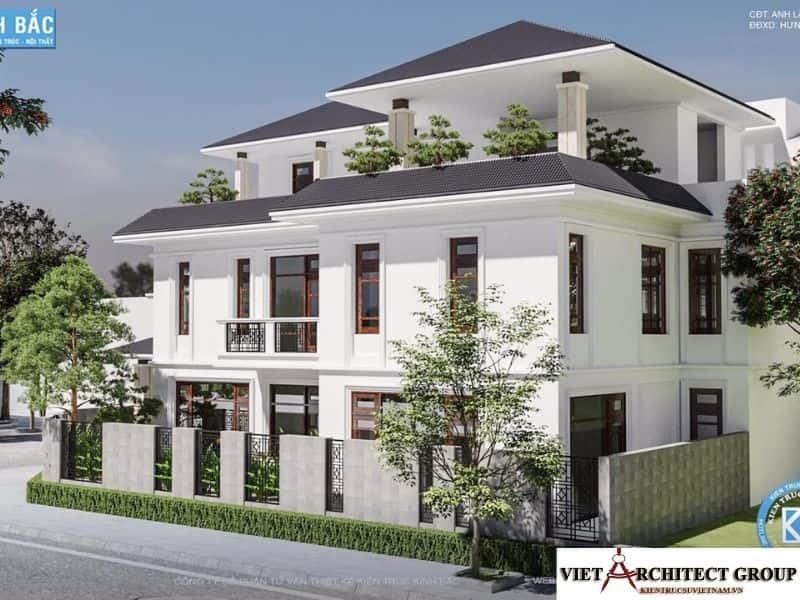 5 - Công trình biệt thự lô góc phố 2 mặt tiền Mr Lâm - Mỹ Hào, Hưng Yên