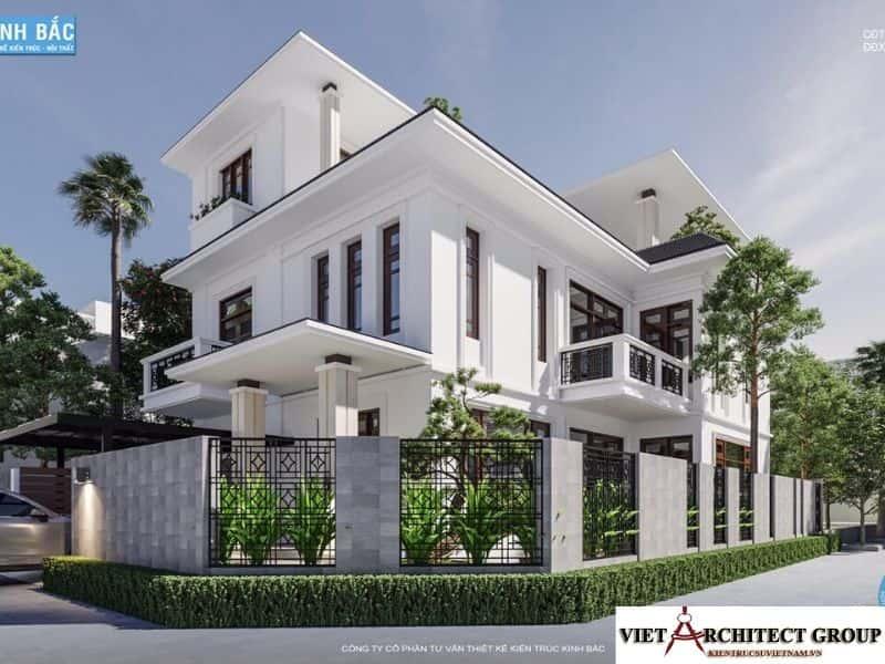6 - Công trình biệt thự lô góc phố 2 mặt tiền Mr Lâm - Mỹ Hào, Hưng Yên