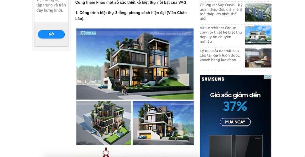 Screen Shot 2020 04 20 at 21.22.16 - Báo Gia Đình Pháp Luật: Công ty thiết kế biệt thự uy tín chuyên nghiệp