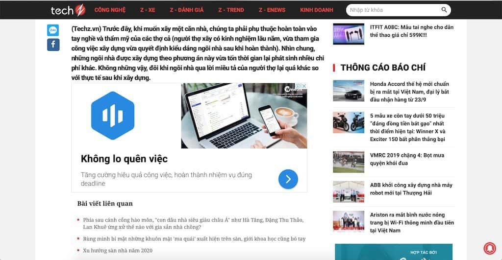 Screen Shot 2020 04 20 at 21.40.21 - Báo Công nghệ Techz.vn: Công ty thiết kế nhà đẹp uy tín