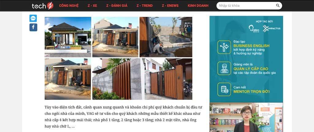 Screen Shot 2020 04 20 at 21.40.39 - Báo Công nghệ Techz.vn: Công ty thiết kế nhà đẹp uy tín