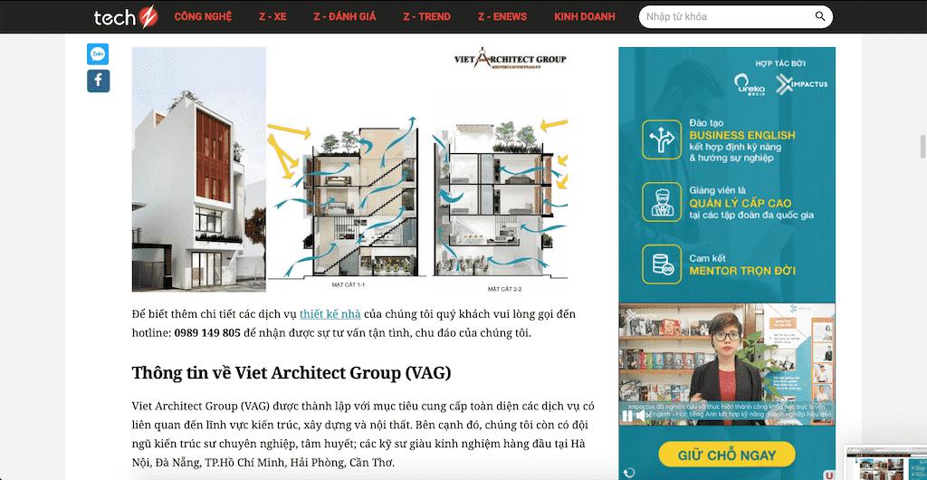Screen Shot 2020 04 20 at 21.40.45 - Báo Công nghệ Techz.vn: Công ty thiết kế nhà đẹp uy tín