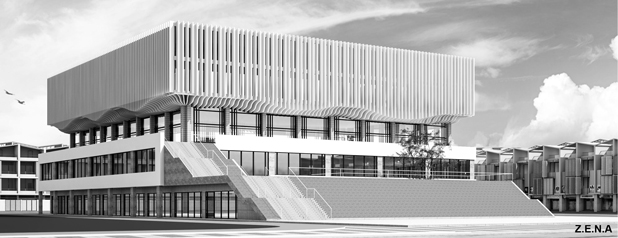 Sport Center Go Vap 5 - Phương án thiết kế Nhà Thi Đấu Quận Gò Vấp