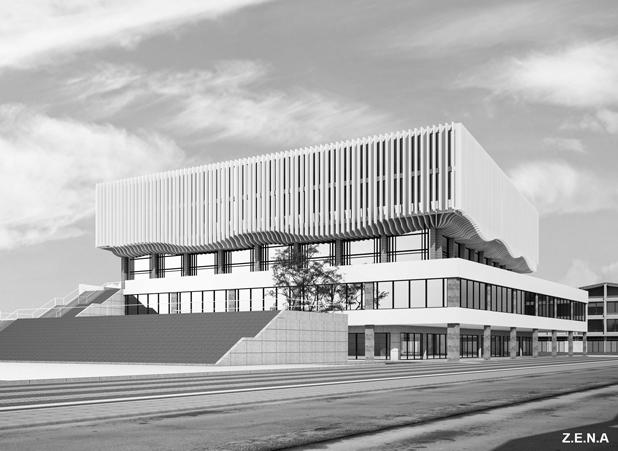 Sport Center Go Vap 6 - Phương án thiết kế Nhà Thi Đấu Quận Gò Vấp