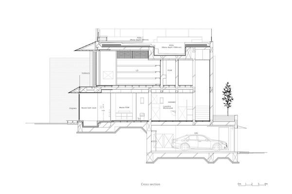 biet thu kieu nhat Cross Section - Ngôi nhà kết hợp giữa yếu tố truyền thống và hiện đại của cặp vợ chồng Nhật Bản
