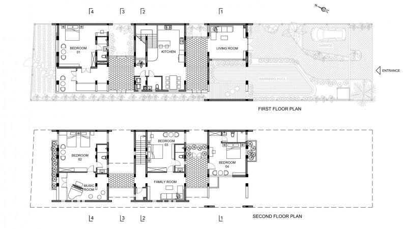 kien truc nha dep Floorsplan - Ngôi nhà có kiến trúc độ đáo tọa lạc tại Cẩm Thành - Hội An