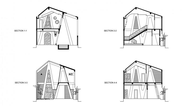 kien truc nha dep Sections - Ngôi nhà có kiến trúc độ đáo tọa lạc tại Cẩm Thành - Hội An