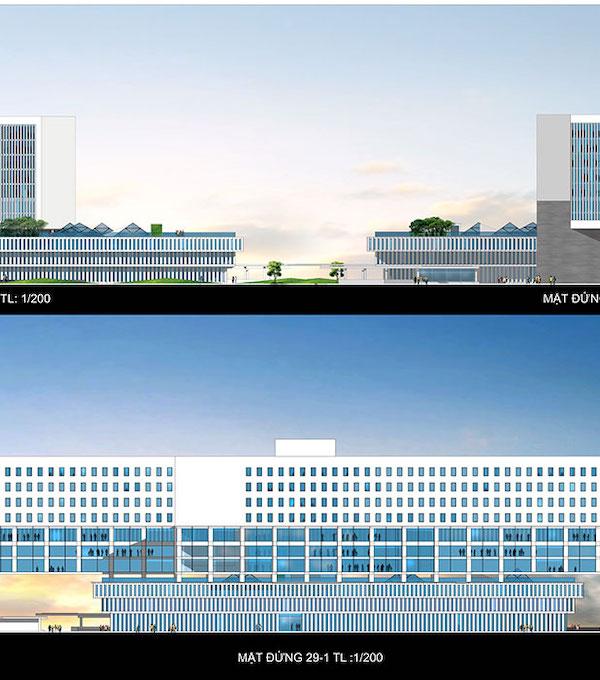 thiet ke benh vien ung buou phoi canh 2 - Công trình tư vấn - thiết kế Bệnh viện ung bướu 2