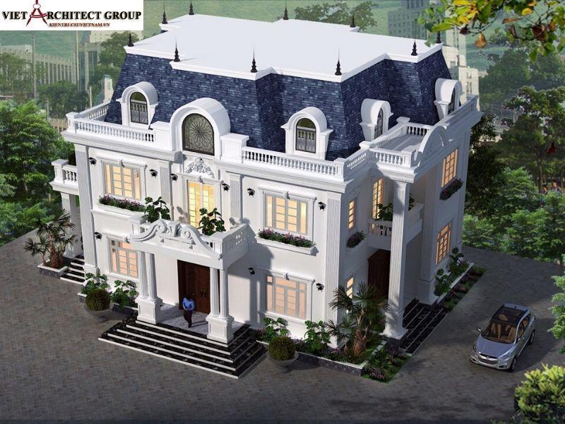 thiet ke biet thu tan co dien hai phong 2 - Công trình thiết kế thi công biệt thự tân cổ điển anh Cường - Hải Phòng