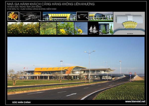 thiet ke nha ga hang khong lien khuong 01 t1 - Giới thiệu về hoạt động kiến trúc sư Phan Đình Kha