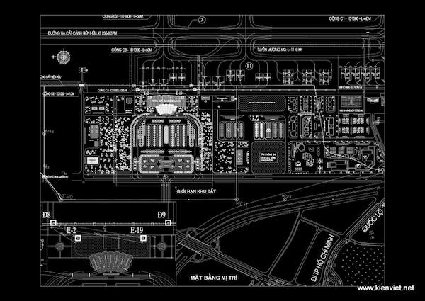 thiet ke nha ga hang khong lien khuong 06 mat bang vi tri - Thiết kế Nhà ga hàng không Liên Khương - Lâm Đồng
