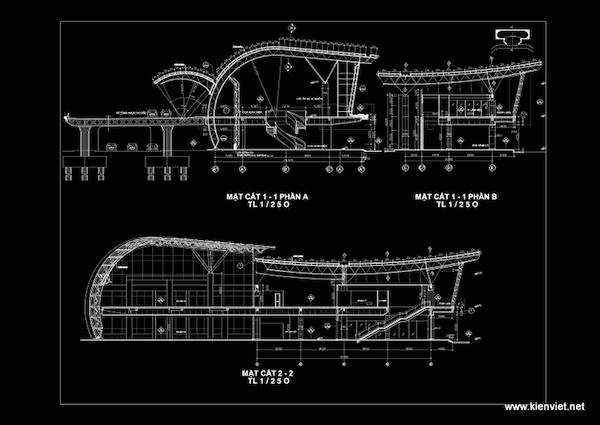 thiet ke nha ga hang khong lien khuong11 mat cat - Thiết kế Nhà ga hàng không Liên Khương - Lâm Đồng
