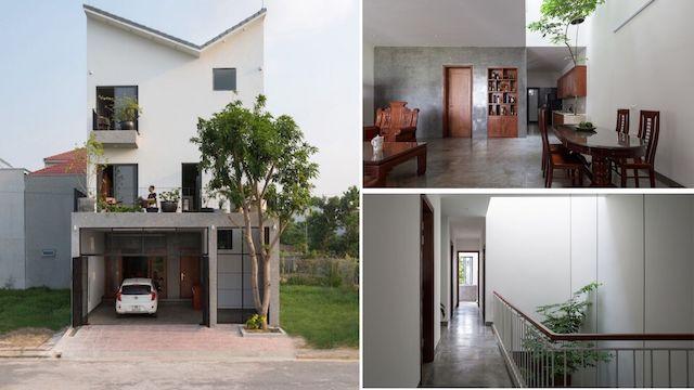 thiet ke nha pho dep 4 - Ngôi nhà phố nhỏ hẹp giải quyết triệt để vấn đề giải quyết các vấn đề thông gió, ánh sáng tự nhiên