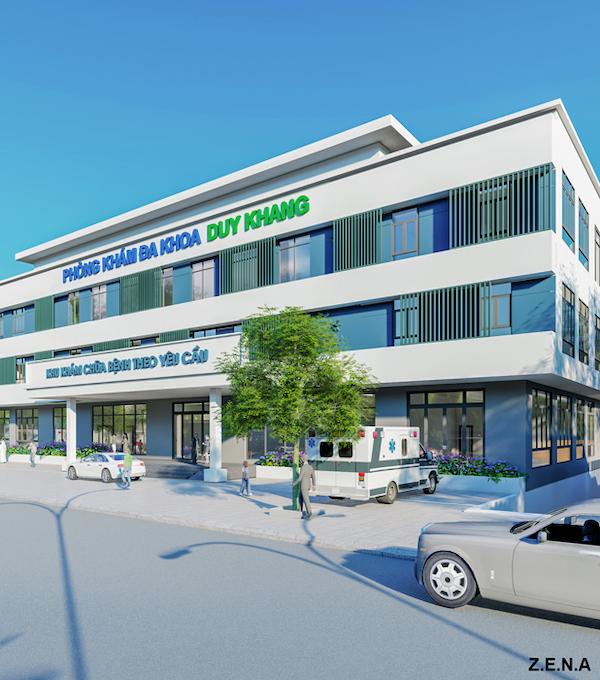 thiet ke phong kham da khoa duy quang 1 - Thiết kế Phòng Khám Đa Khoa Duy Khang - Chợ Gạo, Tiền Giang