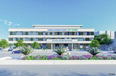thiet ke phong kham da khoa duy quang thumbail 400x260 - Thiết kế Phòng Khám Đa Khoa Duy Khang - Chợ Gạo, Tiền Giang