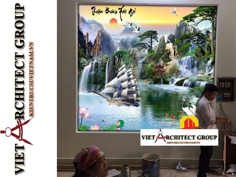 tranh kinh 3D ms0023 - Thiết kế và thi công tranh kính 3d đẹp đẳng cấp
