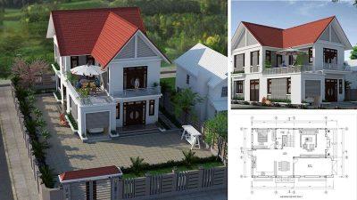 cac mau nha 2 tang don gian 4 400x225 - Tư vấn thiết kế nhà nhà 2 tầng 7x12m đẹp tối ưu công năng phong thuỷ