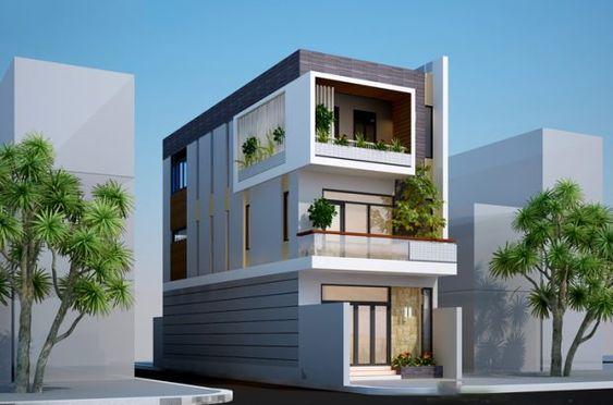 mau nha 2 tang 2 mat tien 1 - Những mẫu nhà 2 tầng 2 mặt tiền mái thái hot nhất hiện nay