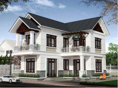 mau nha 2 tang chu l o dep nong thon dep 400x299 - Tư vấn thiết kế nhà nhà 2 tầng 7x12m đẹp tối ưu công năng phong thuỷ