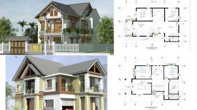 mau nha 2 tang mai thai don gian 400x225 - Tư vấn thiết kế nhà nhà 2 tầng 7x12m đẹp tối ưu công năng phong thuỷ