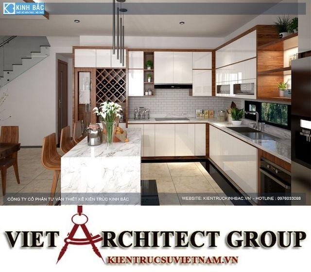 thiet ke bep biet thu 2 - Thiết kế nội thất biệt thự Gamuda Gardens gia đình Mr Lâm