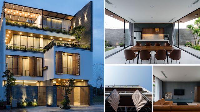 thiet ke biet thu dep trung villa - Trung Villa: Biệt thự hiện đại đẹp ở thành phố biển Đà Nẵng