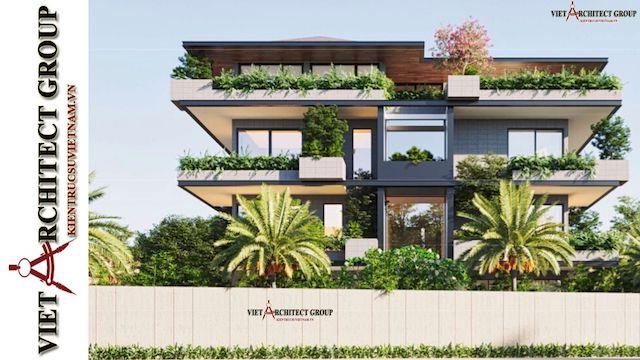 thiet ke biet thu vung tau 2 - Phương án cải tạo thiết kế biệt thự 3 tầng hiện đại nhiều không gian xanh