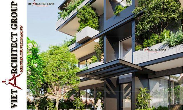 thiet ke biet thu vung tau 4 - Phương án cải tạo thiết kế biệt thự 3 tầng hiện đại nhiều không gian xanh