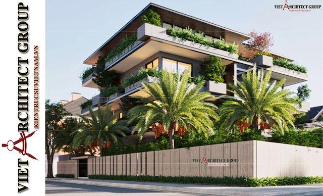 thiet ke biet thu vung tau 5 - Phương án cải tạo thiết kế biệt thự 3 tầng hiện đại nhiều không gian xanh