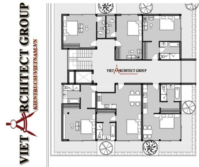 thiet ke biet thu vung tau 8 - Phương án cải tạo thiết kế biệt thự 3 tầng hiện đại nhiều không gian xanh
