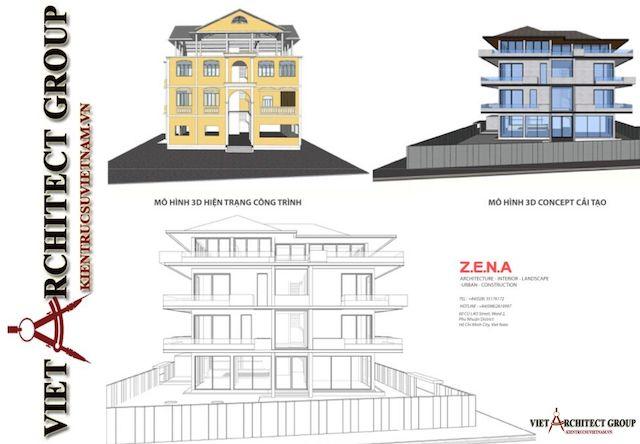 thiet ke biet thu vung tau 9 - Phương án cải tạo thiết kế biệt thự 3 tầng hiện đại nhiều không gian xanh