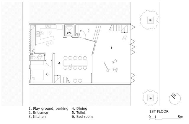 """thiet ke nha PL 1 copy - Tropical Cave House: Ngôi nhà thiết kế với hiệu ứng ánh sáng và không gian, giống với phong cách """"hang động"""""""