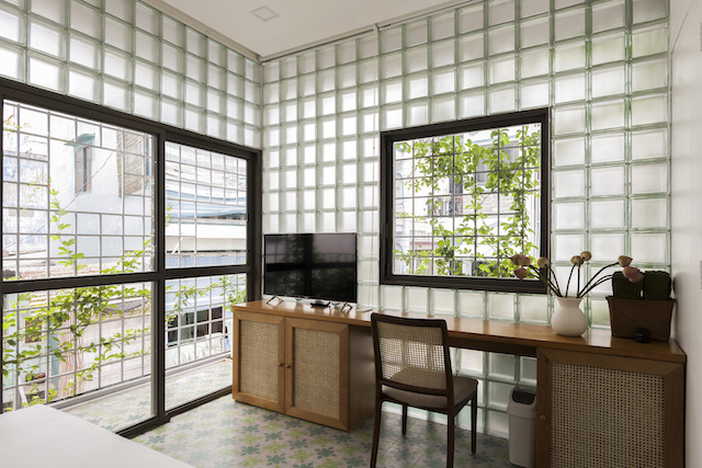 thiet ke nha dep ROOM Glass block Micro House AD 11