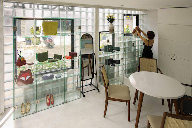 thiet ke nha dep ROOM Glass block Micro House AD 5