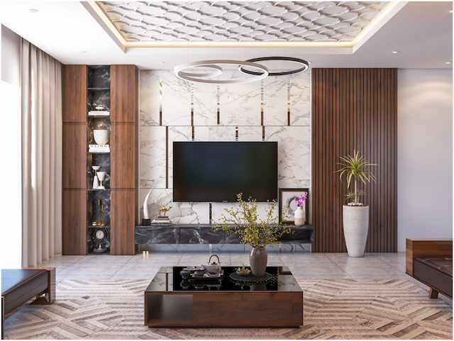 thiet ke noi that biet thu ca0 cap 2 - Thiết kế nội thất phòng khách biệt thự đẹp sang trọng cao cấp
