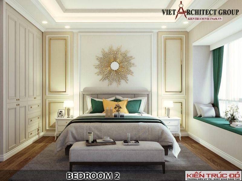 thiet ke noi that phong ngu biet thu tan co dien 10 - Thiết kế biệt thự 3 tầng kiến trúc tân cổ điển ở Huế