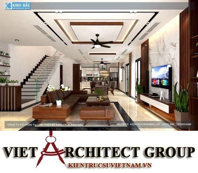 thiet ke phong khach biet thu gamura 16 - Thiết kế nội thất biệt thự Gamuda Gardens gia đình Mr Lâm