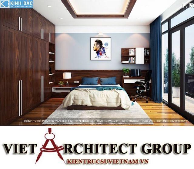 thiet ke phong ngu biet thu gamura 10 - Thiết kế nội thất biệt thự Gamuda Gardens gia đình Mr Lâm