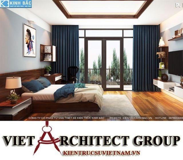 thiet ke phong ngu biet thu gamura 14 - Thiết kế nội thất biệt thự Gamuda Gardens gia đình Mr Lâm